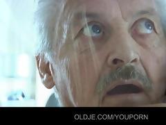 granddad gustavo screwed by his stupid maid