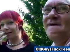 old lad blow job by sexy younger hottie