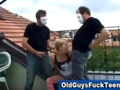 old guys blowjob by hot younger hottie
