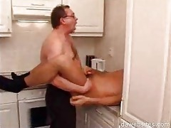 guy in glasses anal drilling his younger ally in