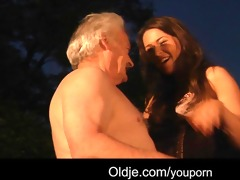 favourable grandad bonks with hot girls