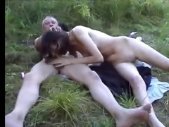 unattractive daddy and not his daughter outdoor