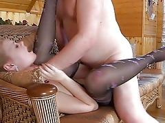 juvenile blonde in hose acquires slammed by