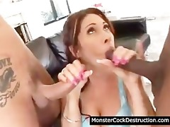 cute legal age teenager destroyd by monster dong