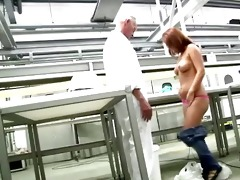 juvenile ass redhead gets exposed in front of