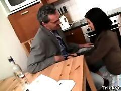 horny teacher turns hawt coed into a obscene