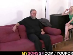 she is punished and drilled by old daddy