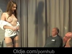 6 old geezers gang group-sex wide a naughty