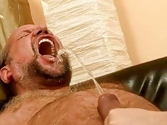 older man fucking and pissing on wicked redhead