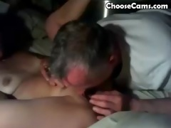 grand-dad giving grandma great oral sex