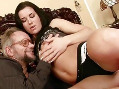 old man enjoys naughty sex with pretty legal age