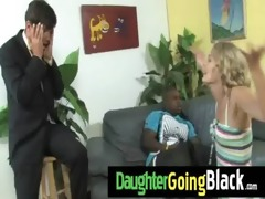 just watching my daughter fucking a darksome cock