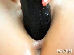 hotty positions & masturbates