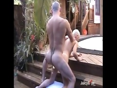 hot daddy copulates his son