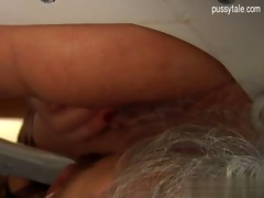breasty daughter close up blowjob